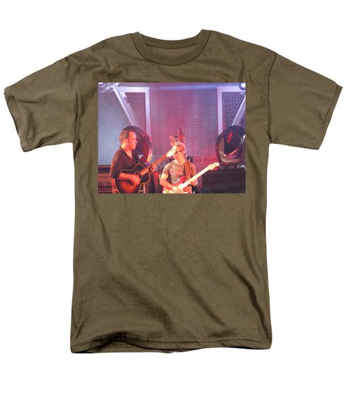 Men's T-Shirt  (Regular Fit) featuring the photograph Dave And Tim Jam On The Guitar by Aaron Martens