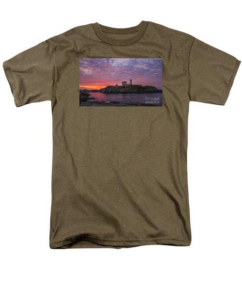 Dawn At The Nubble Men's T-Shirt  (Regular Fit) by Steven Ralser