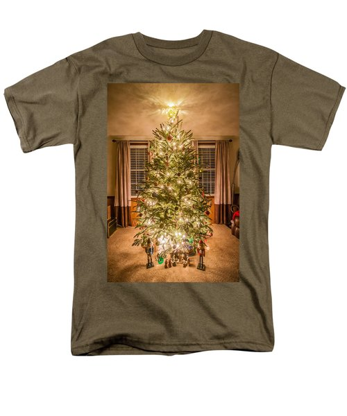 Men's T-Shirt  (Regular Fit) featuring the photograph Decorated Christmas Tree by Alex Grichenko
