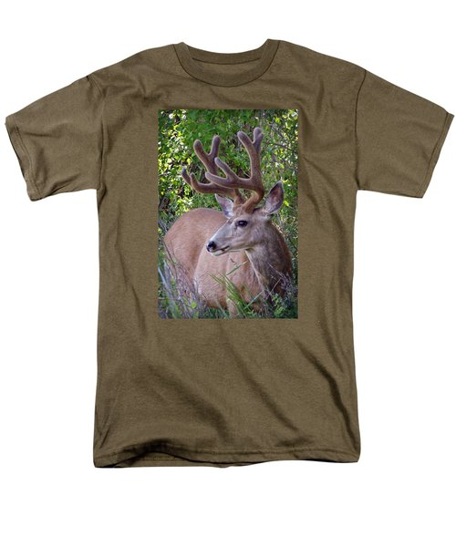 Men's T-Shirt  (Regular Fit) featuring the photograph Buck In The Woods by Athena Mckinzie