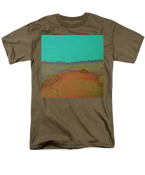 Men's T-Shirt  (Regular Fit) featuring the painting Desert Overlook by Keith Thue