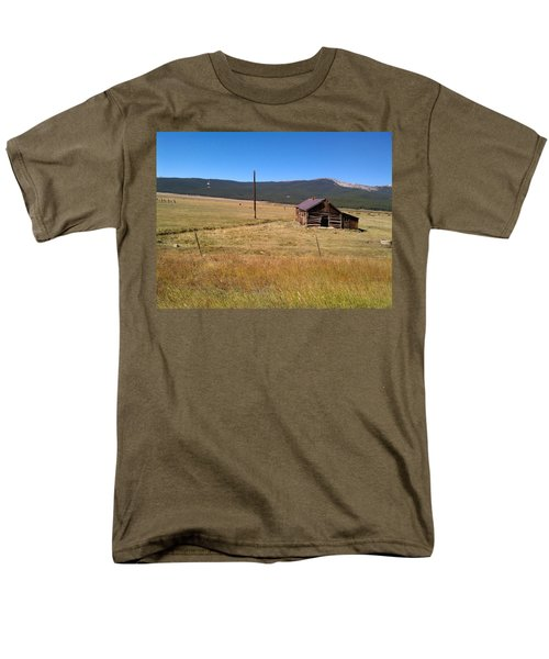 Men's T-Shirt  (Regular Fit) featuring the photograph Deserted Cabin by Fortunate Findings Shirley Dickerson