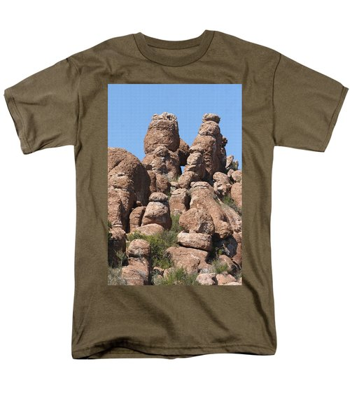Men's T-Shirt  (Regular Fit) featuring the photograph Devils Canyon Wall by Tom Janca