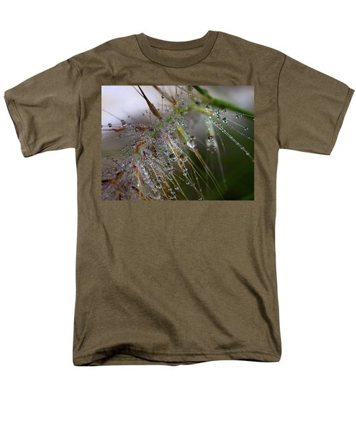 Men's T-Shirt  (Regular Fit) featuring the photograph Dew On Fountain Grass by Joe Schofield