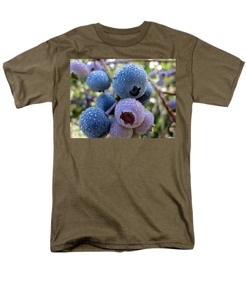 Dewy Blueberries Men's T-Shirt  (Regular Fit) by MTBobbins Photography