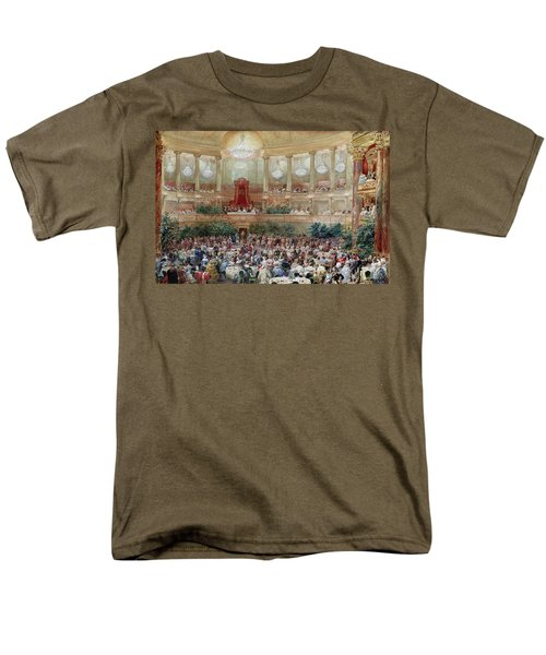 Dinner In The Salle Des Spectacles At Versailles Men's T-Shirt  (Regular Fit) by Eugene-Louis Lami