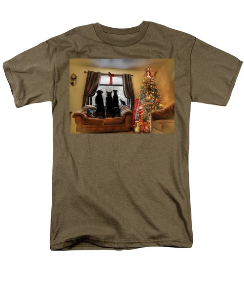Do You Hear What I Hear Men's T-Shirt  (Regular Fit) by Lori Deiter