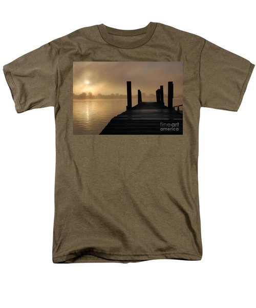Dockside And A Good Morning Men's T-Shirt  (Regular Fit) by Randy J Heath