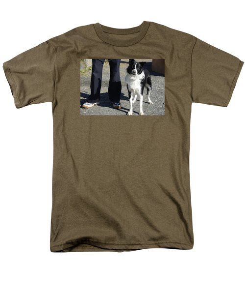 Men's T-Shirt  (Regular Fit) featuring the photograph Dog And True Friendship 9 by Teo SITCHET-KANDA