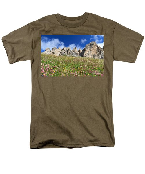 Men's T-Shirt  (Regular Fit) featuring the photograph Dolomiti - Flowered Meadow  by Antonio Scarpi