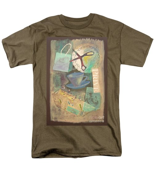 Men's T-Shirt  (Regular Fit) featuring the painting Don't Be Blue by Mini Arora