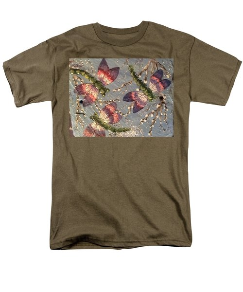 Men's T-Shirt  (Regular Fit) featuring the painting Dragonflies 5 by Megan Walsh