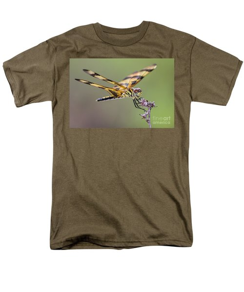 Men's T-Shirt  (Regular Fit) featuring the photograph The Halloween Pennant Dragonfly by Olga Hamilton