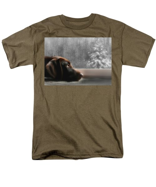 Dreamin' Of A White Christmas Men's T-Shirt  (Regular Fit) by Lori Deiter