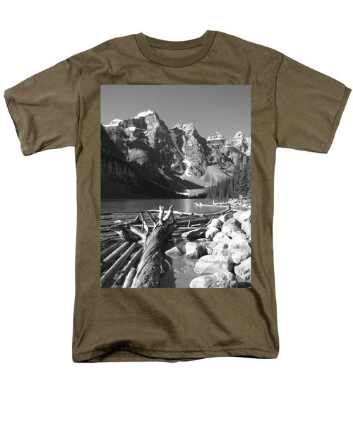 Driftwood - Black And White Men's T-Shirt  (Regular Fit) by Marcia Socolik