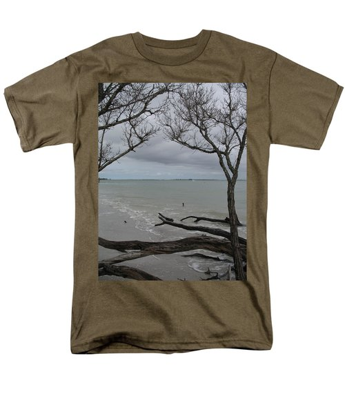 Driftwood On The Beach Men's T-Shirt  (Regular Fit) by Christiane Schulze Art And Photography
