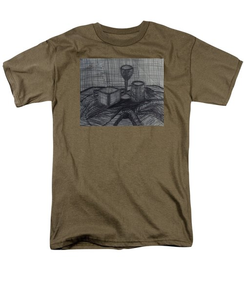 Men's T-Shirt  (Regular Fit) featuring the drawing Drinks by Erika Chamberlin