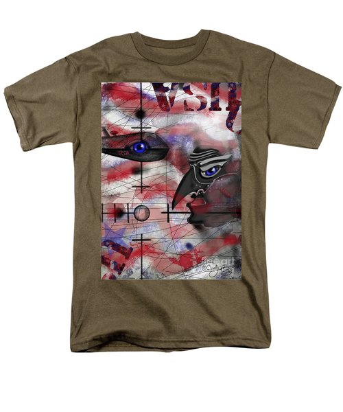 Men's T-Shirt  (Regular Fit) featuring the painting Drone by Carol Jacobs