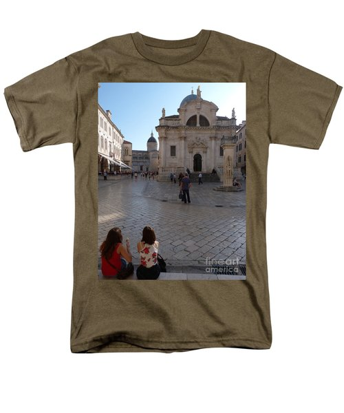Men's T-Shirt  (Regular Fit) featuring the photograph Dubrovnik - Time To Relax by Phil Banks