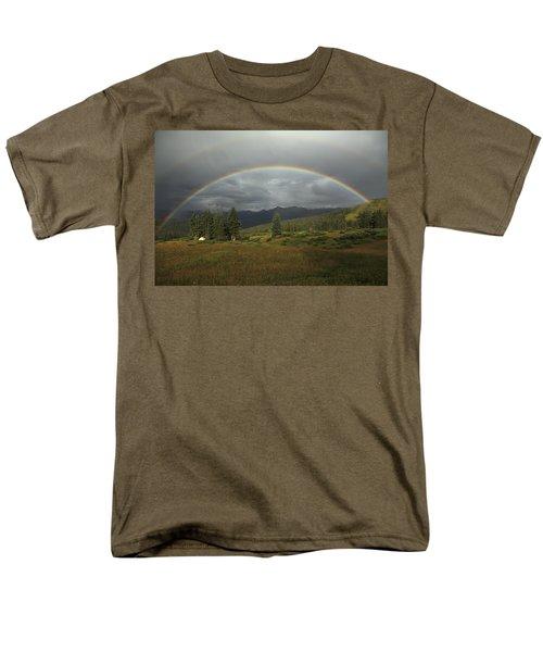Durango Double Rainbow Men's T-Shirt  (Regular Fit) by Alan Vance Ley