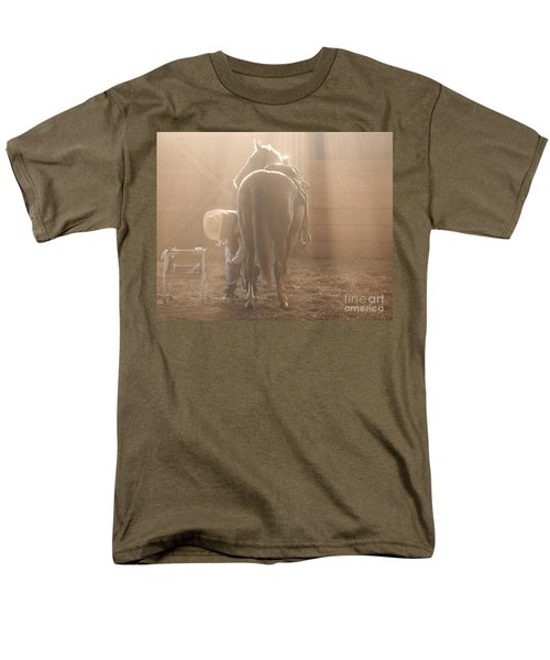 Dusty Morning Pedicure Men's T-Shirt  (Regular Fit) by Carol Lynn Coronios
