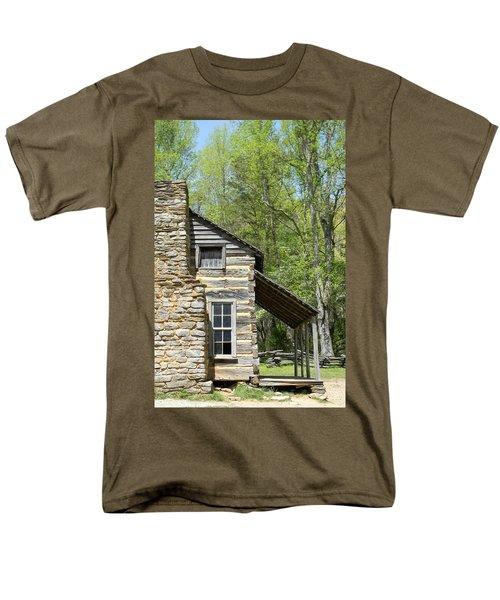 Early Appalachian Home Men's T-Shirt  (Regular Fit) by Mark Minier