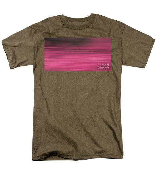 Men's T-Shirt  (Regular Fit) featuring the digital art Abstract Earth Motion Aubergine by Linsey Williams