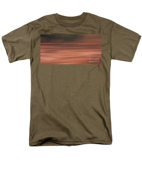 Men's T-Shirt  (Regular Fit) featuring the digital art Abstract Earth Motion Soil by Linsey Williams