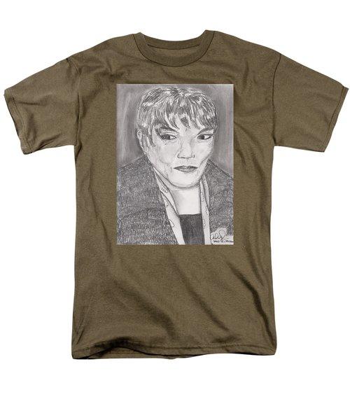 Men's T-Shirt  (Regular Fit) featuring the drawing Eartha Kitt by David Jackson