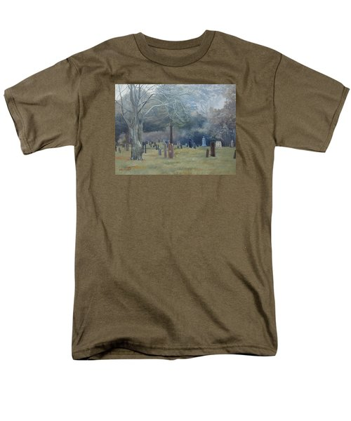 East End Cemetery Amagansett Men's T-Shirt  (Regular Fit) by Barbara Barber