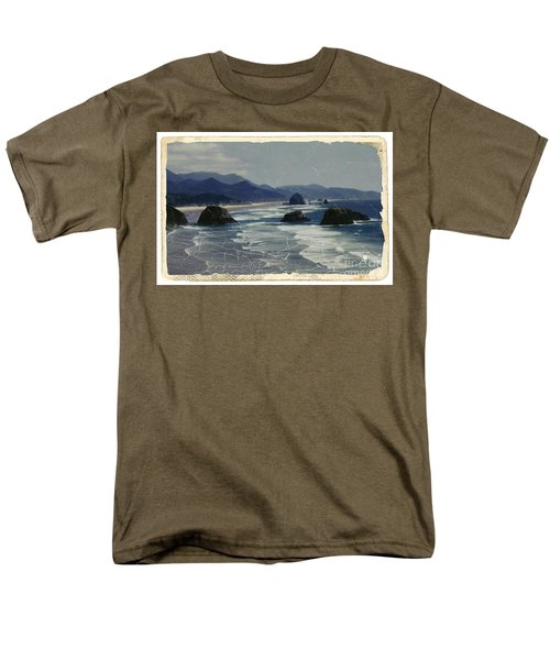 Ecola Sea Stacks Men's T-Shirt  (Regular Fit) by Chalet Roome-Rigdon