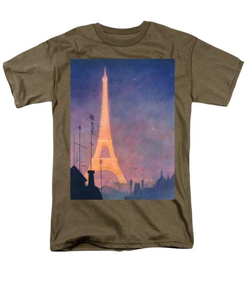 Eiffel Tower Men's T-Shirt  (Regular Fit) by Blue Sky