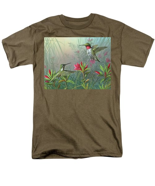 Men's T-Shirt  (Regular Fit) featuring the painting Elegance  by Mike Brown