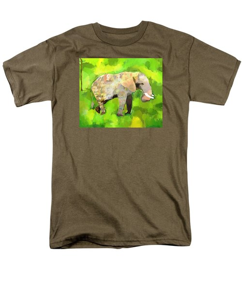 Men's T-Shirt  (Regular Fit) featuring the painting Elephant 4 by Jeanne Fischer