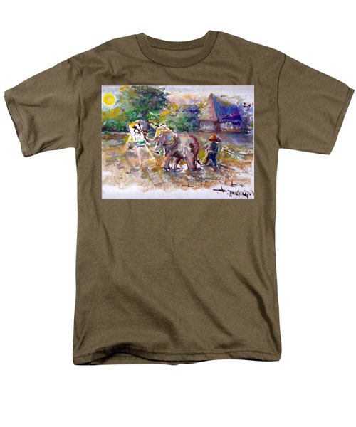 Men's T-Shirt  (Regular Fit) featuring the painting Elephant Painting by Bernadette Krupa