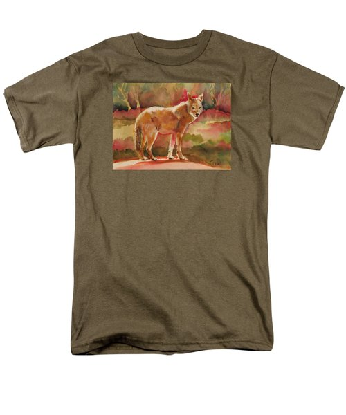 Men's T-Shirt  (Regular Fit) featuring the painting Elusive Visitor by Pattie Wall
