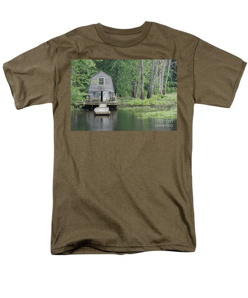 Emerson Boathouse Concord Massachusetts Men's T-Shirt  (Regular Fit) by Amy Porter