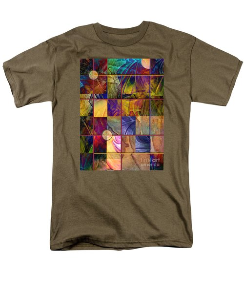 Men's T-Shirt  (Regular Fit) featuring the painting Emotive Tapestry by Allison Ashton