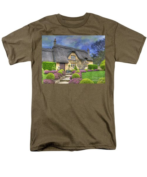 English Country Cottage Men's T-Shirt  (Regular Fit) by Juli Scalzi