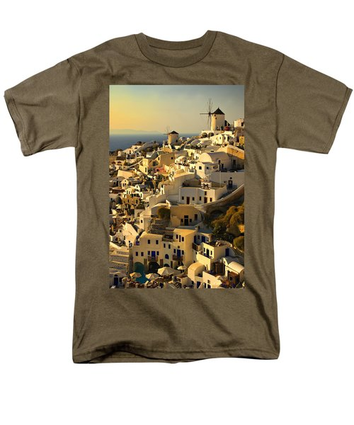 Men's T-Shirt  (Regular Fit) featuring the photograph evening in Oia by Meirion Matthias