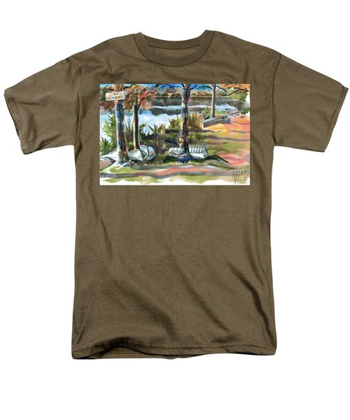 Evening Shadows At Shepherd Mountain Lake  No W101 Men's T-Shirt  (Regular Fit) by Kip DeVore