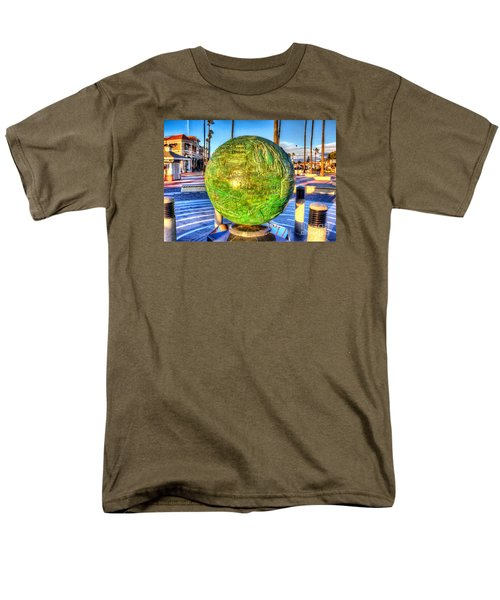 Men's T-Shirt  (Regular Fit) featuring the photograph Everyone Is Welcome At The Beach by Jim Carrell