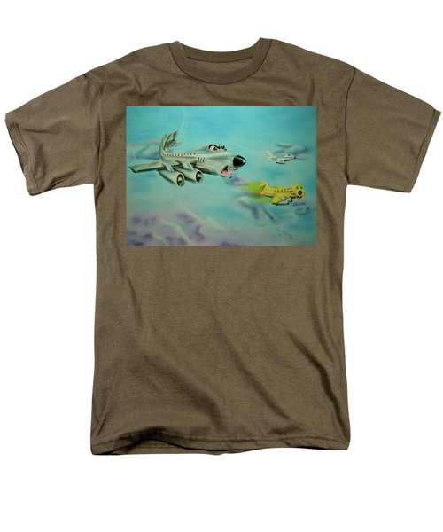 Men's T-Shirt  (Regular Fit) featuring the painting Extreme Airline Mergers by Thomas J Herring