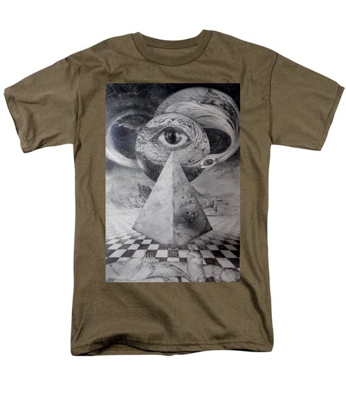 Men's T-Shirt  (Regular Fit) featuring the drawing Eye Of The Dark Star - Journey Through The Wormhole by Otto Rapp
