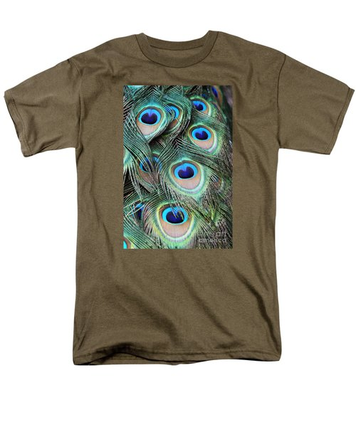 Men's T-Shirt  (Regular Fit) featuring the photograph Eye Of The Peacock #2 by Judy Whitton