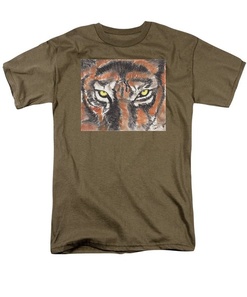 Men's T-Shirt  (Regular Fit) featuring the pastel Eye Of The Tiger by David Jackson