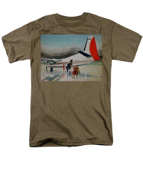 F-27 At Columbus Ohio Men's T-Shirt  (Regular Fit) by Frank Hunter