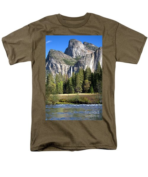 Yosemite National Park-sentinel Rock Men's T-Shirt  (Regular Fit) by David Millenheft