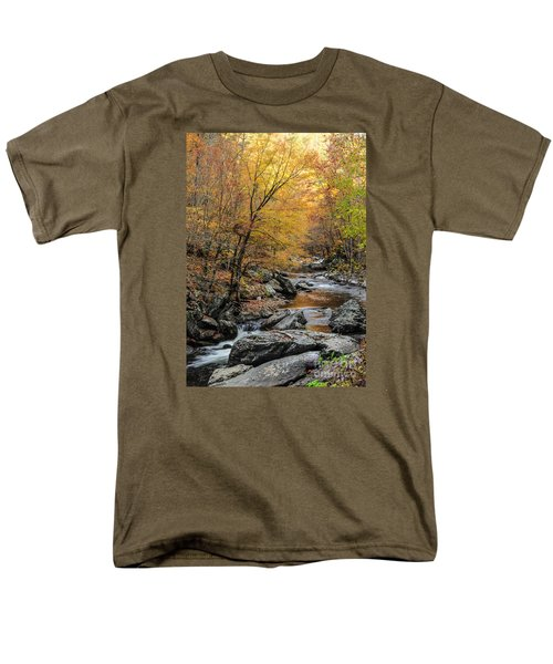 Men's T-Shirt  (Regular Fit) featuring the photograph Fall Mountain Stream by Debbie Green