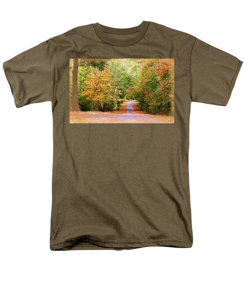 Men's T-Shirt  (Regular Fit) featuring the photograph Fall Pathway by Judy Vincent
